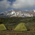 E - Expedition tents with view of Kili